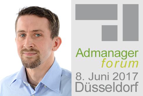Christian Krüger ist Referent beim Admanagerforum für Agenturen Juni 2017