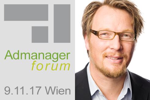 Carsten Sander ist Referent beim Admanagerforum für Vermarkter November 2017
