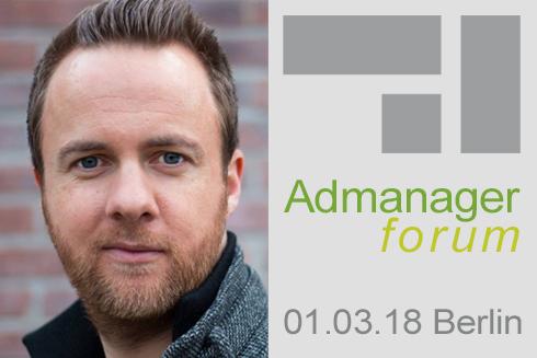 Pascal Charpentier ist Referent beim Admanagerforum für Vermarkter März 2018