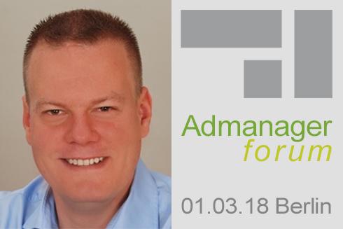 Björn Militzer ist Referent beim Admanagerforum für Vermarkter März 2018