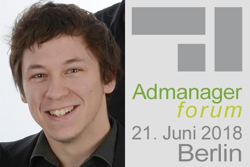 """Florian Szathowski ist Referent beim Admanagerforum für Agenturen """"AdOps Forum Demand"""" Juni 2018"""
