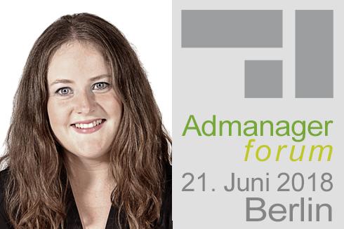 Nadine Schollmeier ist Referentin beim Admanagerforum für Agenturen Juni 2018