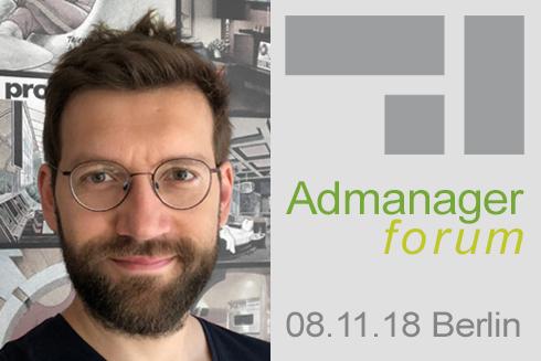 """Sascha Stojakovic ist Referent beim Admanagerforum für Vermarkter """"AdOps Forum Supply"""" November 2018"""
