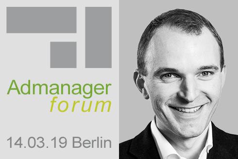 """Alwin Viereck ist Referent beim Admanagerforum für Vermarkter """"AdOps Forum Supply"""" März 2019"""