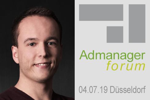 """Marcel Benik ist Referent beim Admanagerforum für Agenturen """"AdOps Forum Demand"""" Juli 2019"""
